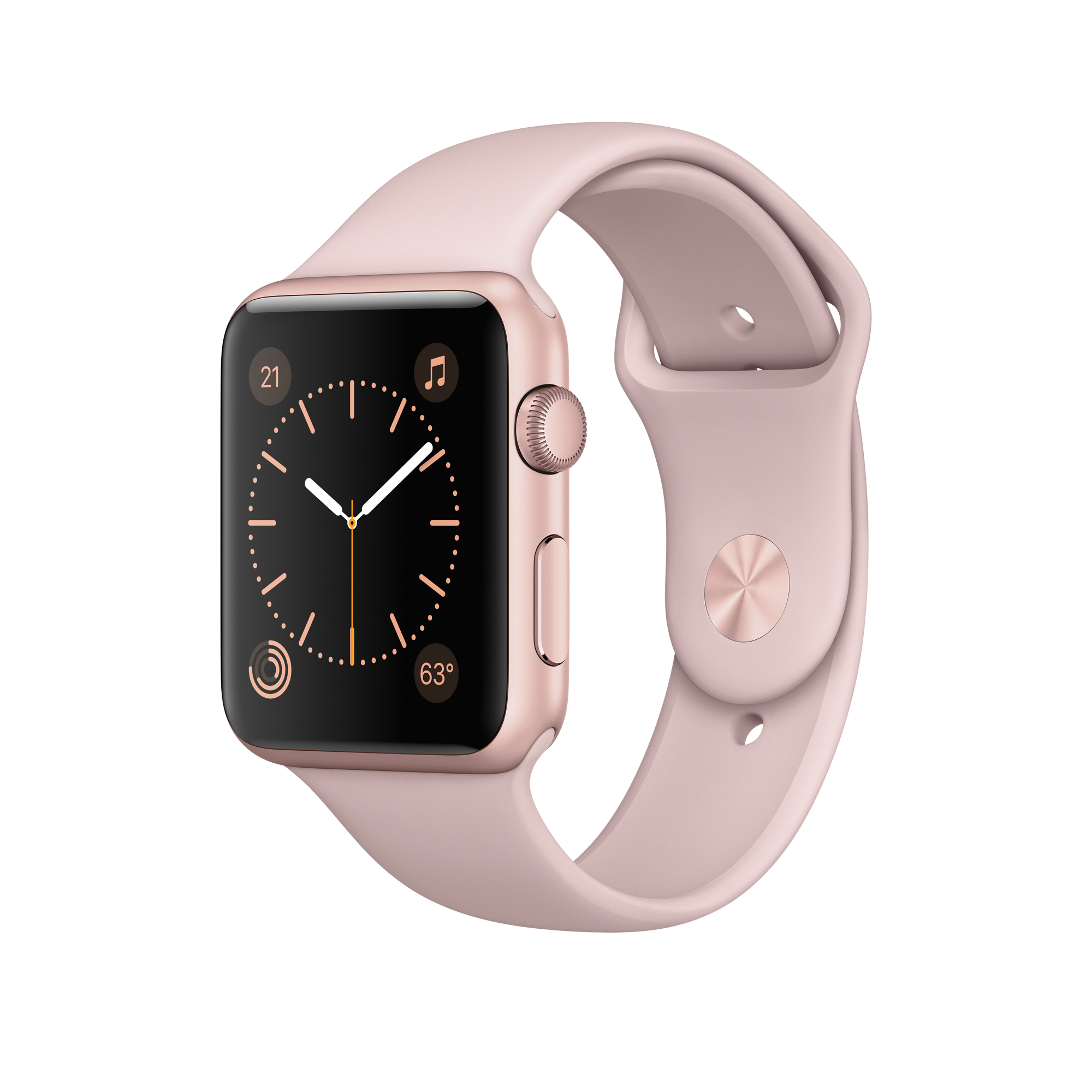 Apple Watch 2 42mm Rose Gold Alu Case with Pink Sand Sport Band