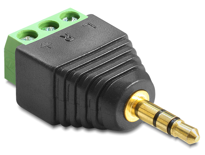 DeLock Adapter Terminalblock > Klinke 3,5mm Stecker 3 Pin