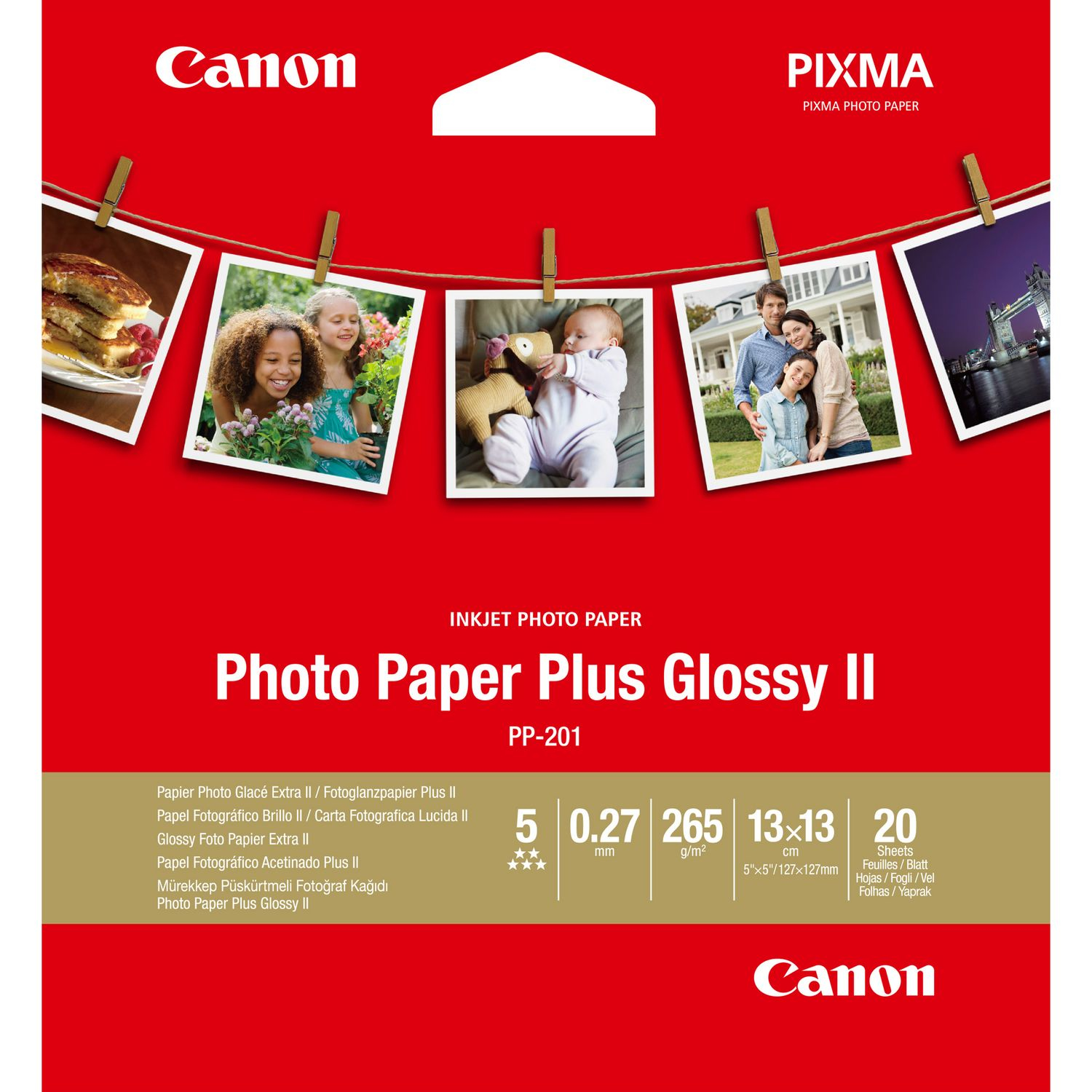 Canon Photo Paper Plus Glossy II PP-201