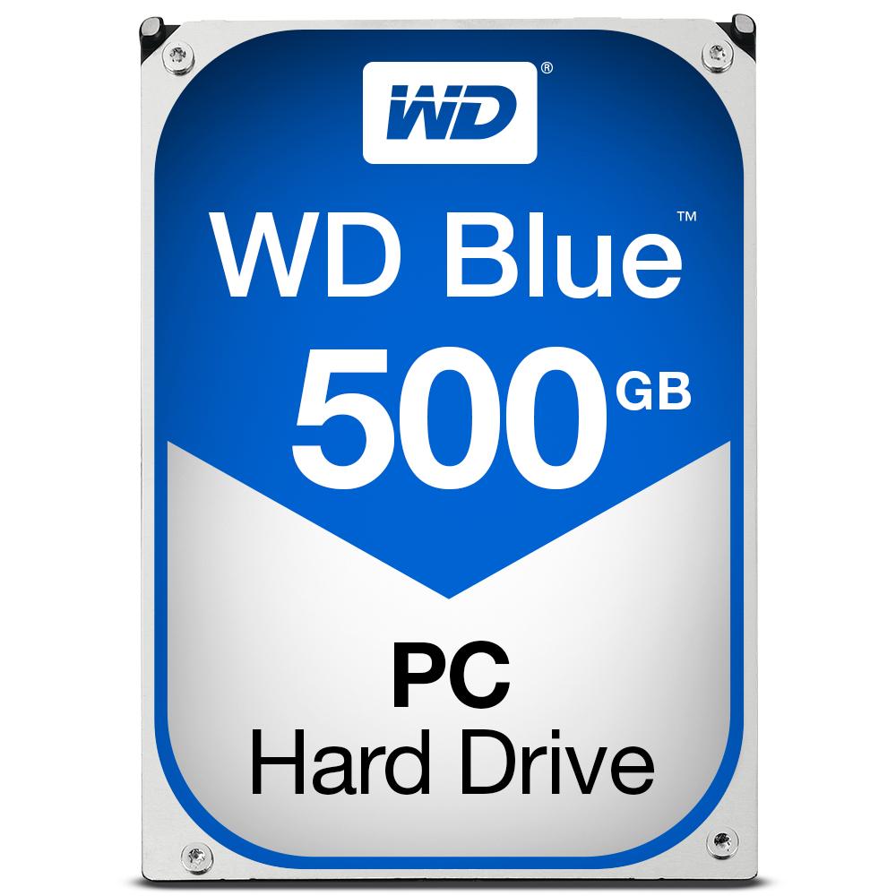 Western Digital WD Blue 500GB SATA 6Gb//s HDD internal 8,9cm 3,5Zoll Serial ATA 32MB Cache 7200 RPM RoHS Compliant Bulk