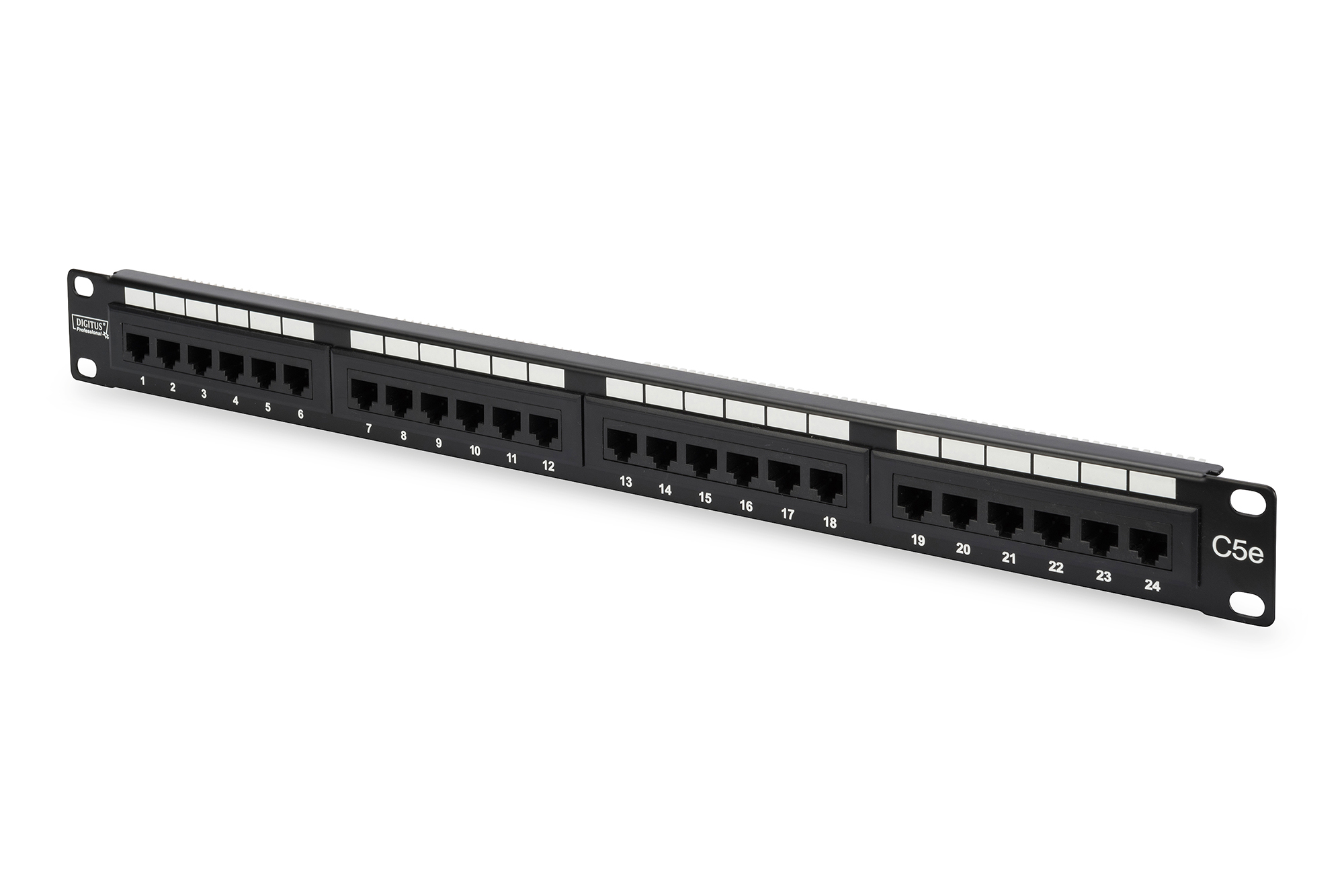 Digitus Patchpanel  1HE 24-Port Cat5 ungeschirmt schwarz