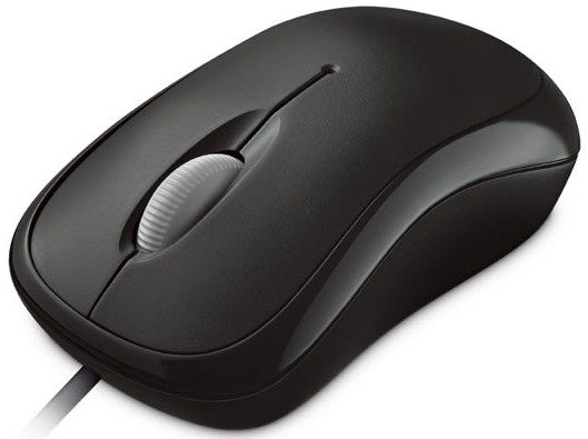 Microsoft Kabel Basic Optical Mouse black