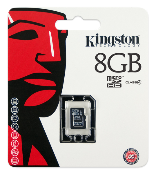 Kingston Speicherkarte MicroSD , 8GB , Class 4 ,
