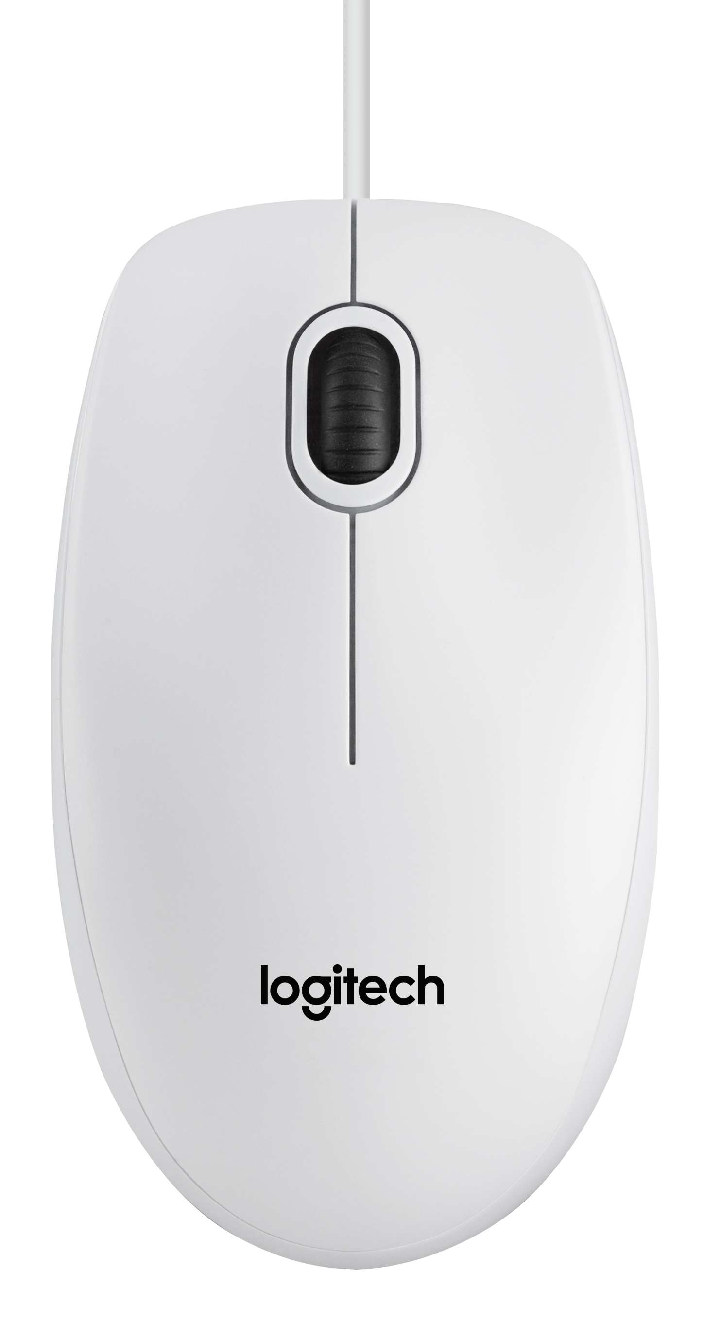 Logitech B100 optical USB Mouse for Business WHITE