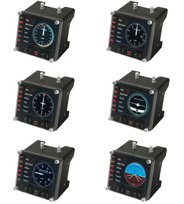 Logitech G Saitek Pro Flight Instrument Panel - USB - WW