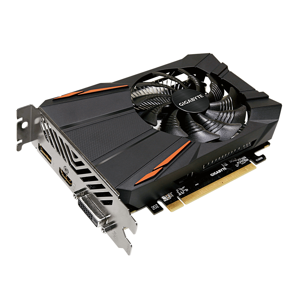 GigaByte Radeon RX 550 D5 2GB Dual-Link DVI-Dx1 HDMI(Gold Plated)x1DP(Gold Plated)x1