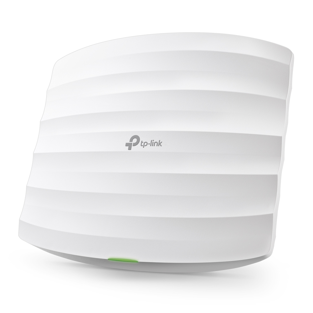 TP-Link TP LINK 300Mbps Wireless N Ceiling Mount Access Point Qualcomm 300Mbps at 2.4GHz 802.11b/g/n 1 10/100Mbps LAN 802.3af PoE Supported