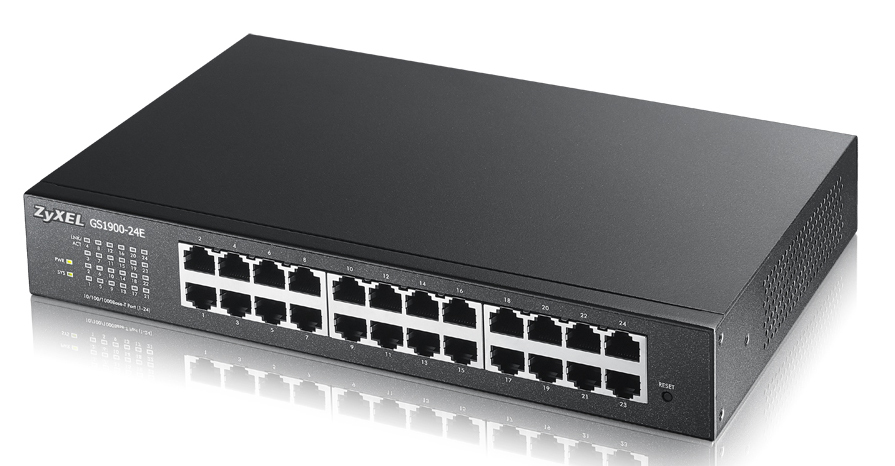 Zyxel GS1900-24E-EU0101F, 24 Port Gigabit L2 smart Switch ohne Lüfter
