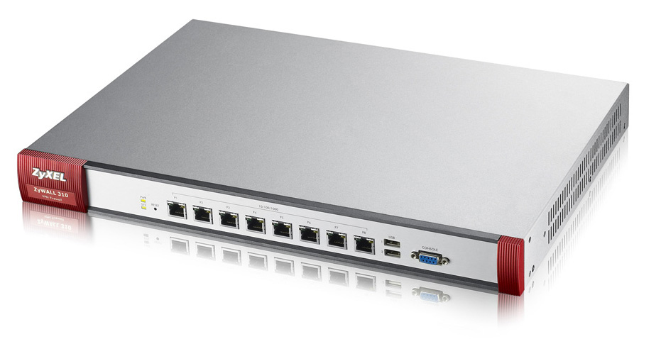 Zyxel ZYWALL 310 Firewall Appliance 8 Gigabit user-definable ports, 2 USB (Keine UTM Funktionen)