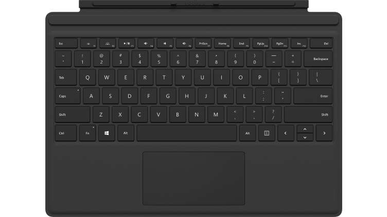 Microsoft MS Surface Pro  Type Cover Commercial SC Hardware M1725 Black English International Euro (GB)