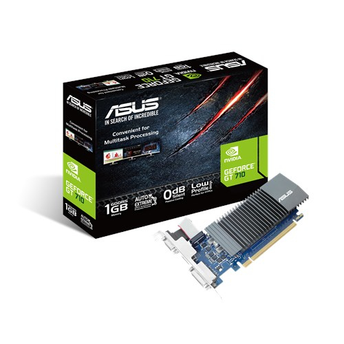 Asus GT710-SL-1GD5-BRK GeForce GT 710 1GB DDR5 low profile graphics card for silent HTPC build (with I/O port brackets)