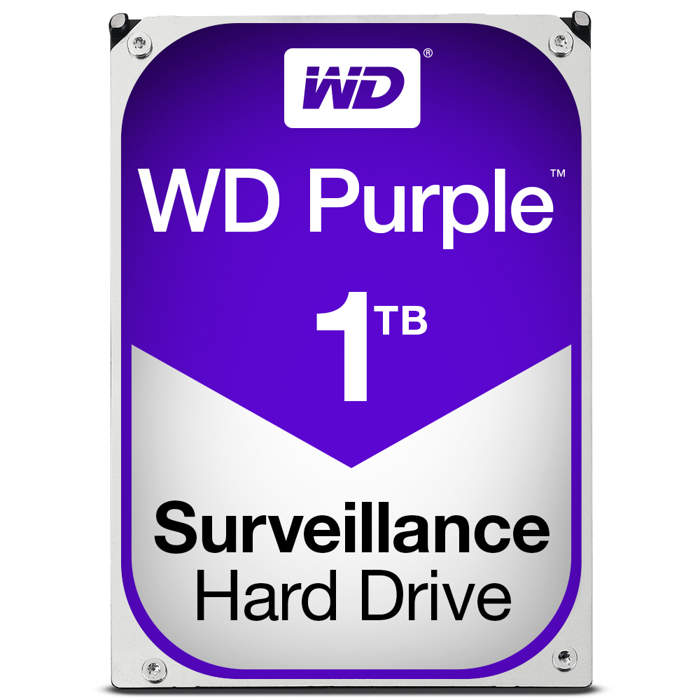 Western Digital 1TB WD WD10PURX Purple AV 5400RPM 64MB