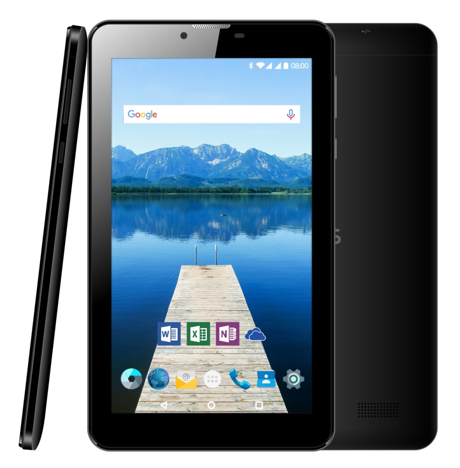 Odys Nova X7 plus 3G Dual Sim Tablet, 7 Zoll, 1GB RAM, 8GB Flash, Intel Quad-Core, Android 6.0