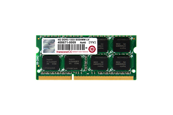 Transcend 2GB DDR3 1066Mhz 204Pin SODIMM CL7 256Mx8 8 Chips Memory Module