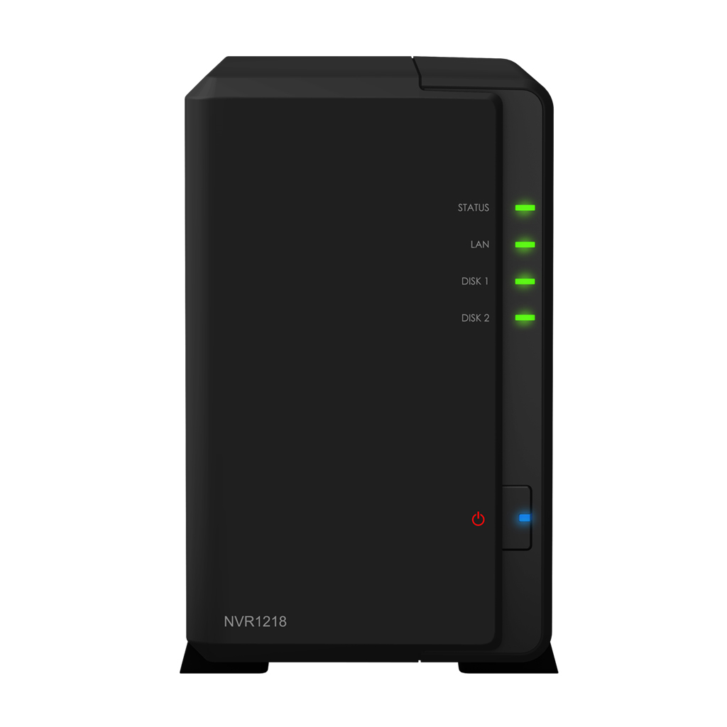 Synology NVR1218 Network Video Recorder Dual Core 1.0 GHz 32 bit 1GB DDR3 12 channels including 4 free licenses