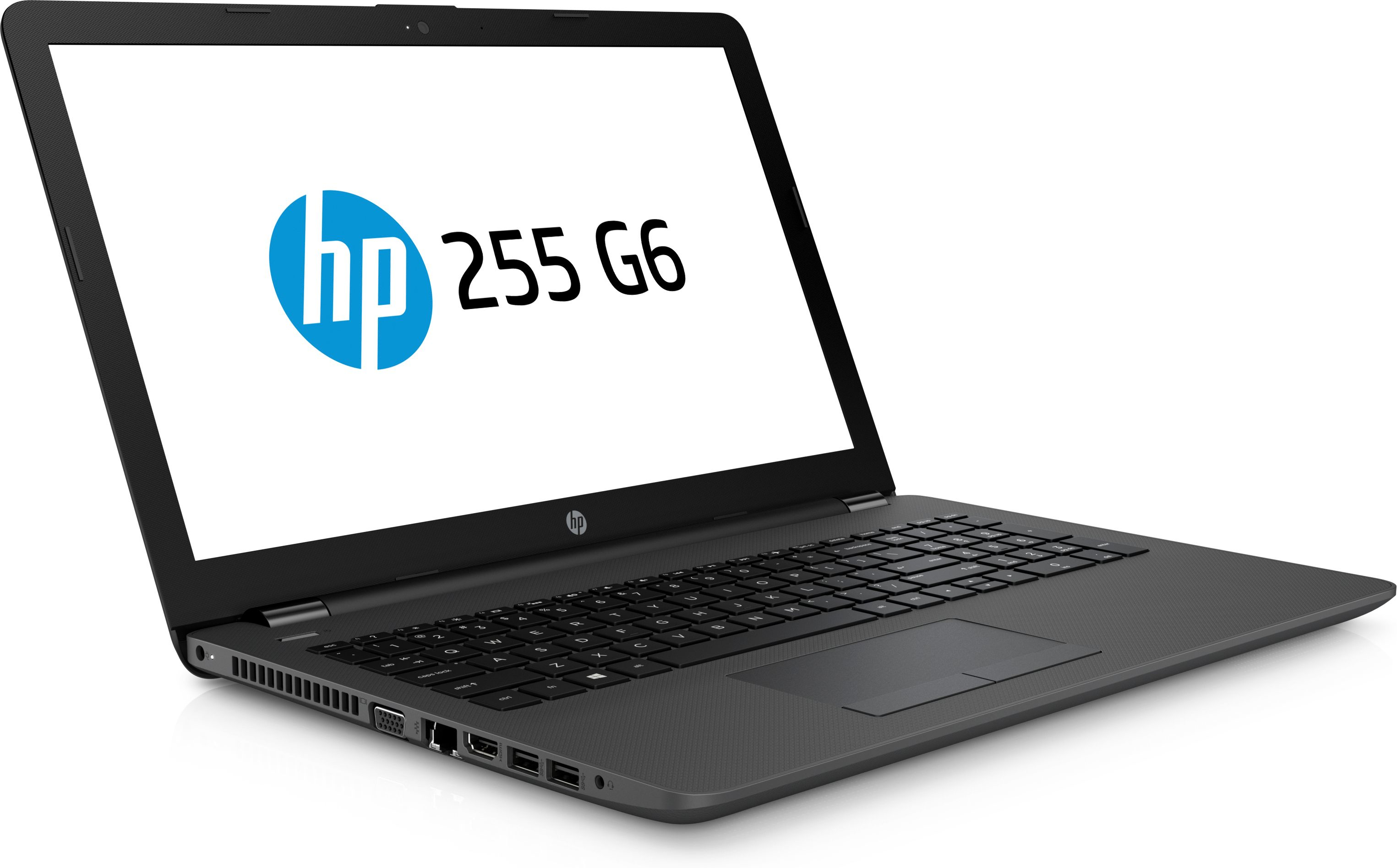 Hewlett Packard (HP) 255 G6 Notebook, 15.6 Zoll HD Display, AMD Dual-Core E2-9000E, 4GB DDR4, 500GB HDD, kein Betriebssystem