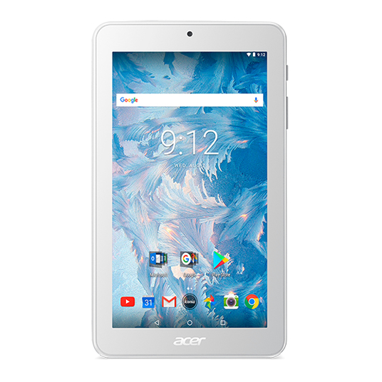 Acer Iconia One 7 (B1-7A0) 17,8 cm (7 Zoll SD Multi-Touch IPS) Tablet (MediaTek Quad-Core Cortex A35, 1 GB RAM, 16 GB eMMC, Micro SD Kartenleser, Android 7.0 Nougat) Weiß