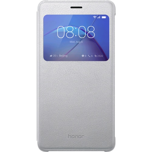 Honor 6X View Flip Cover silber