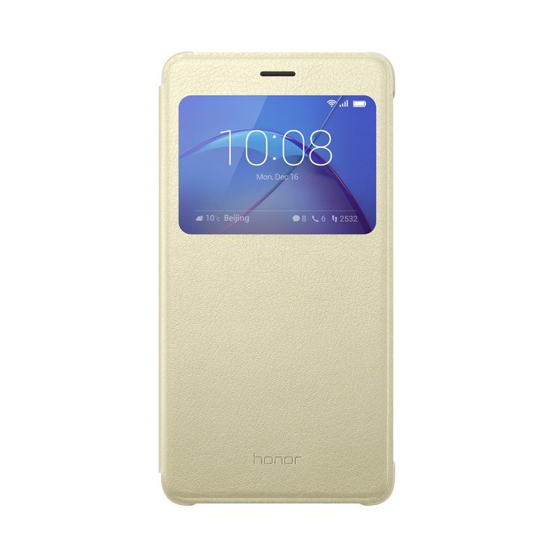 Honor 6X View Flip Cover gold