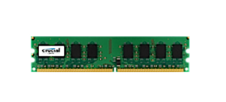 Crucial 1GB DDR2 800MHz PC2-6400 , UDIMM 240pin , CL6