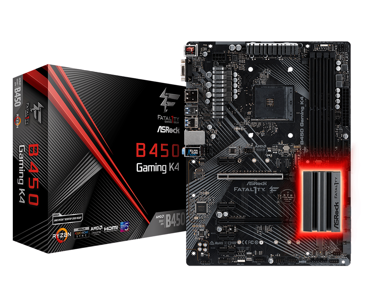 ASRock AM4  Fatal1ty B450 Gaming K4