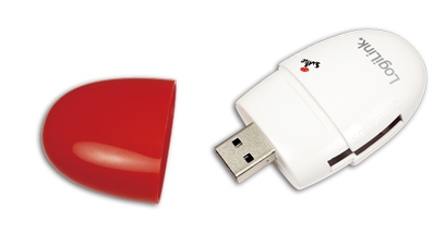 LogiLink Card Reader USB  ZollSmile Zoll All-in-One rot