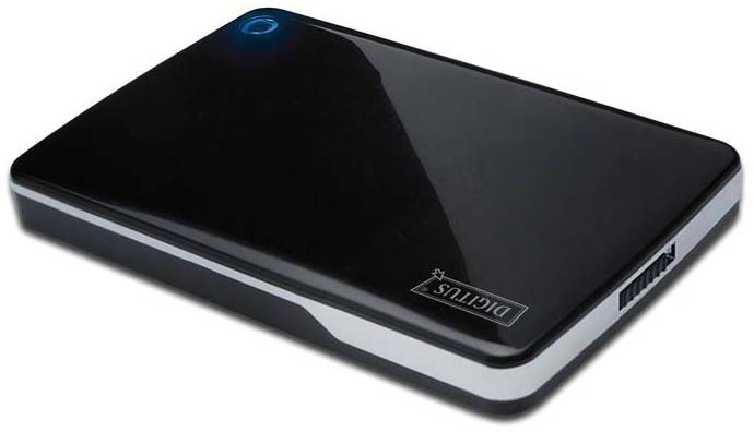 Digitus HDD Alu Gehaeuse fuer 6,4cm 2,5Zoll IDE HDD USB2.0 USB powered