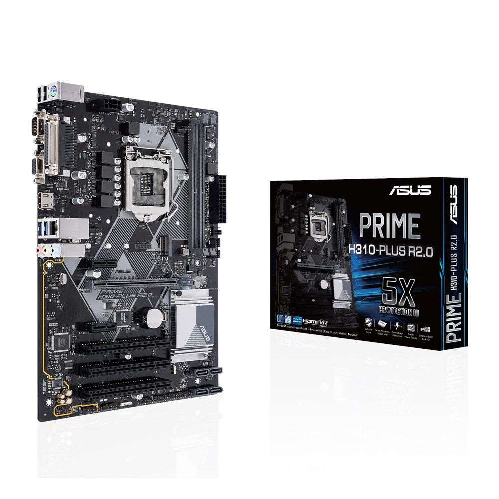 Asus PRIME H310-PLUS R2.0 LGA1151 for 9th 8th Gen Intel Core Pentium Gold and Celeron processors