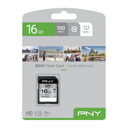PNY Memory Card SD ELITE 16 GB SDHC CLASS 10