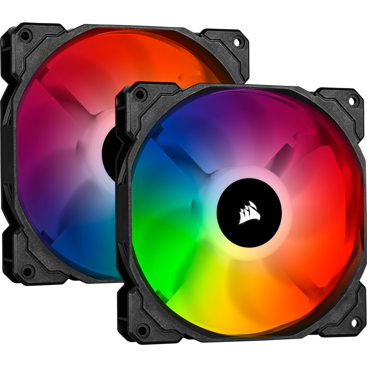 Corsair SP140 RGB PRO | 140mm Gehäuselüfter 2er-Pack inkl. Lighting Node CORE