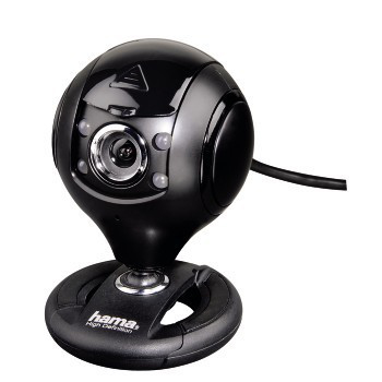 HAMA HD-Webcam Spy Protect schwarz